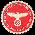 Siegelmarke Der Oberpräsident der Provinz Mark Brandenburg - Berlin W0204782.jpg