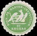 Siegelmarke K.Pr. Garten-Inspection zu Engers W0383944.jpg