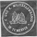 Siegelmarke K.u.K. Militärkommando in Temesvar W0322953.jpg