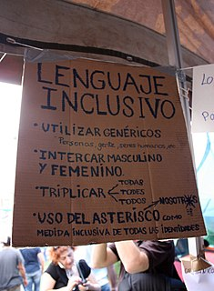 Gender-neutral language language that avoids bias towards a particular sex or social gender