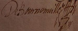 Jean de Bournonville - Jean de Bournonville's signature
