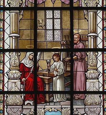 Nederlands: Sint-Martinuskerk (Stevoort) - Gla...