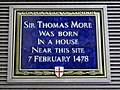 Sir Thomas More was born in a house near this site 7 February 1478.jpg