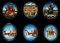 Six circular gouache paintings of Hindu gods, 19th century Wellcome V0047491.jpg