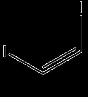 1,2-Diiodoethylene - Image: Skeletal formula of Cis 1,2 DIIODOETHYLENE