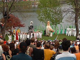 In the Heart of the Beast Puppet and Mask Theatre - HOBT May Day Tree of Life Ceremony in Powderhorn Park.