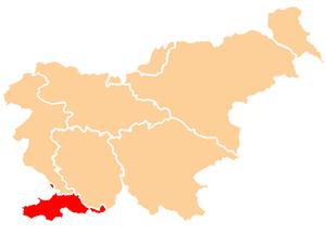 SlovenianIstriaLocationMap