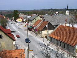 Slunj, town center.JPG