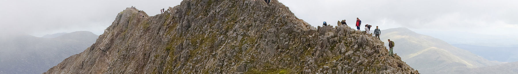 Climbing Crib Goch in Snowdonia National Park
