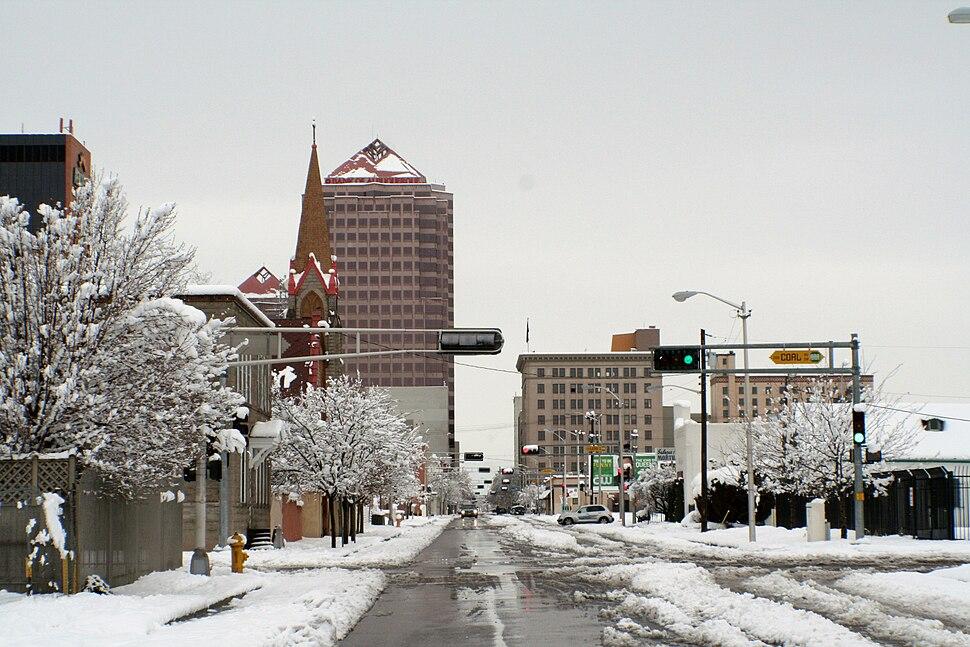 SnowyAlbuquerqueDowntown