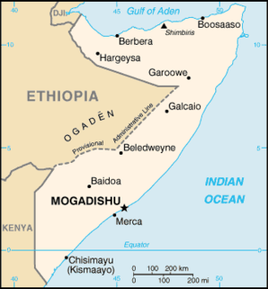 Geography of Somalia - Image: So map