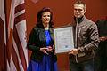 Solvita Āboltiņa tiekas ar Latvijas olimpisko komandu XXII Ziemas olimpiskajās spēlēs Sočos (12812165533).jpg