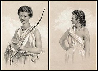 Issa (clan) - Issa man and woman in traditional attire (1844)