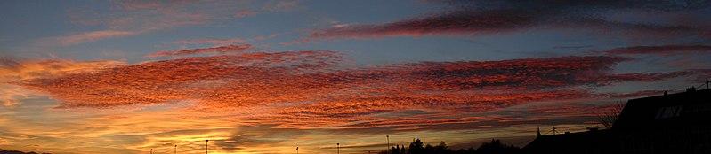 Sonnenuntergang Physik Schule