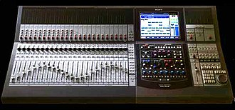 Audio mixing (recorded music) - Digital Mixing Console Sony DMX R-100 used in project studios