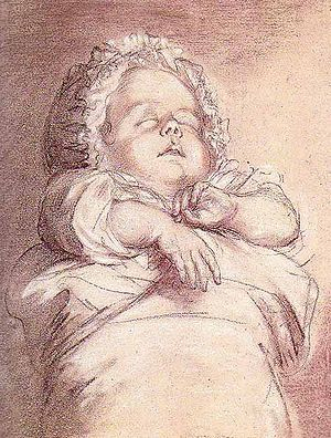 Sophie Hélène Beatrix of France - Sophie Beatrix of France, drafted by Élisabeth Vigée Le Brun.