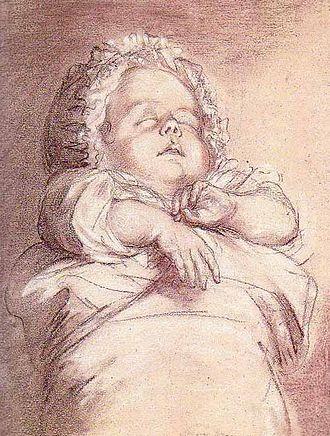 Sophie Hélène Beatrix of France - Sophie Beatrix of France, drafted by Élisabeth Vigée Le Brun.