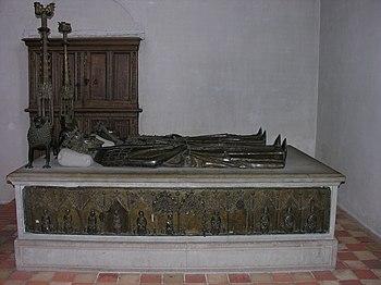 Grave in Sorø, around 1360