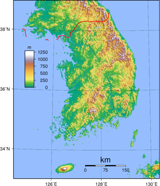 Tập tin:South Korea Topography.png