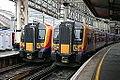 South West Trains 450006 450093 Waterloo (15860193615).jpg