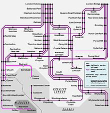 Southern Train Map Southern (Govia Thameslink Railway)   Wikipedia