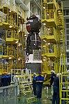 Soyuz MS-08 spacecraft in the integration facility (1).jpg