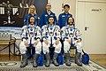Soyuz TMA-19M crew with backup crew at the Baikonur Cosmodrome.jpg