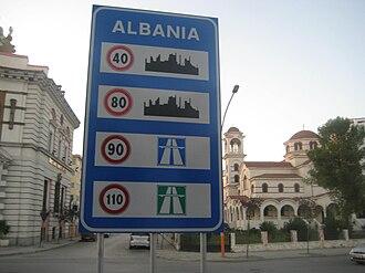 Speed limits in Albania - Speed limits in Albania.