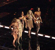 The Spice Girls in concert at Vancouver, British Columbia, Canada.