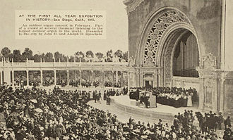 Spreckels Organ Pavilion - Organ concert at the pavilion, February 1915
