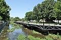 Spring Creek Boardwalk in downtown Springdale, Arkansas.jpg
