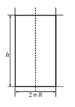Square of lateral surface of cylinder.png