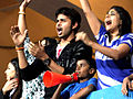 Sreesanth cherring up at CCL match.jpg