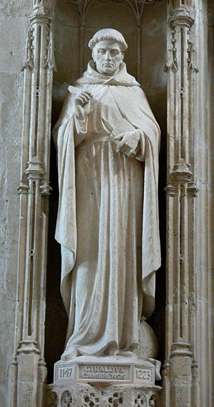 Gerald of Wales - A statue of Gerald of Wales at St David's Cathedral