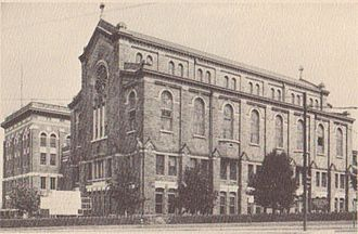 Cardinal Gibbons School (Baltimore, Maryland) - View of St. Mary's Chapel before its renovation, c. 1951