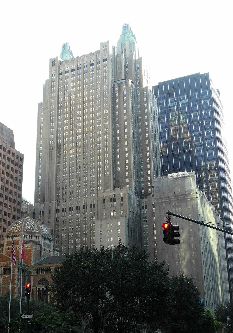 St Bartholomews and The Waldorf Astoria Hotel