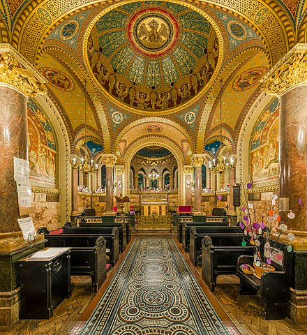 St Christopher's Chapel in Great Ormond Street Hospital. St Christopher's Chapel, Great Ormond St Hospital, London, UK - Diliff.jpg