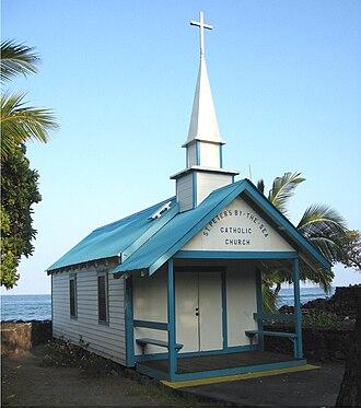 Kahaluu Bay - Image: St Peters Kahaluu