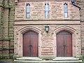 St Thomas of Canterbury, Dentons Green Lane, St Helens, Doorway - geograph.org.uk - 757559.jpg