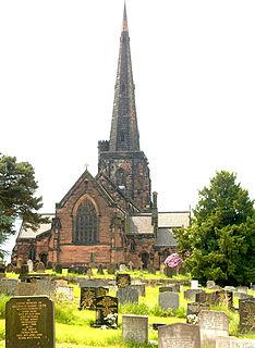 St Wilfrids Church, Davenham Church in Cheshire, England