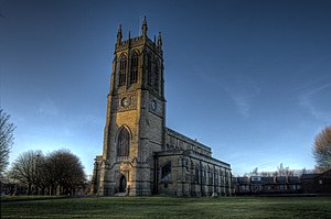 Radcliffe, Greater Manchester - Image: St thomas church radcliffe greater manchester 2