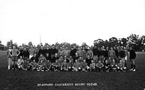 History of rugby union in the United States - The Stanford University team that played the All Blacks in 1913.