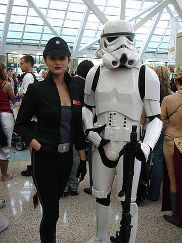 File:Star Wars Celebration IV - Sexy Imperial Officer and Stormtrooper fan costumes (4878290645 ...