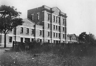 Queensland Brewery Ltd - Queensland Brewery premises on Brunswick Street, Fortitude Valley, Brisbane, circa 1920