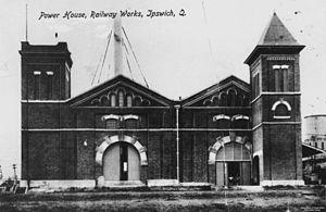 North Ipswich Railway Workshops - Power House at the North Ipswich Railway Workshops, circa 1914