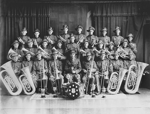 StateLibQld 1 151887 Unidentified Army brass band, Brisbane, ca. 1925