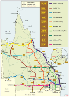 State Strategic Touring Routes in Queensland