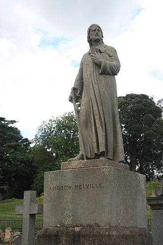 Andrew Melville - Statue of Andrew Melville in Valley Cemetery, Stirling by Alexander Handyside Ritchie