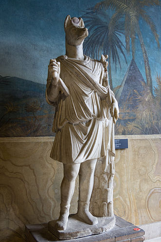 Anubis - Statue of Hermanubis, a hybrid of Anubis and the Greek god Hermes (Vatican Museums)