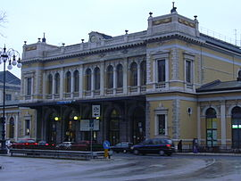 The FS rail station of Trieste